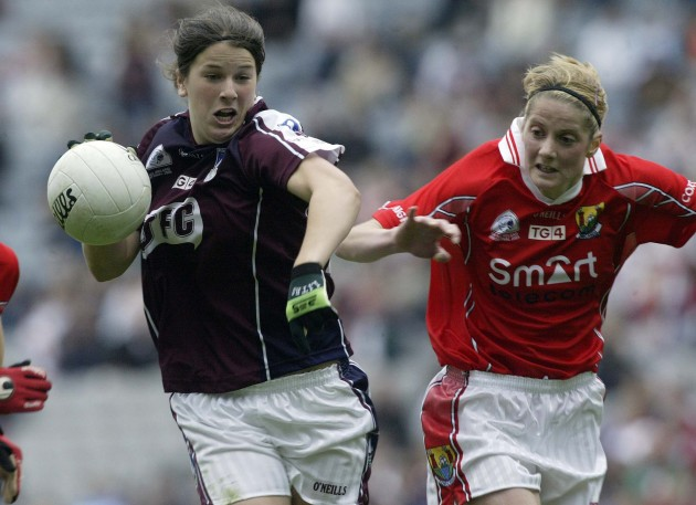 Niamh Fahy of Galway and Juliette Murphy of Cork