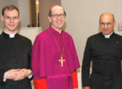 Fr Walker and Fr Terra with a bishop.