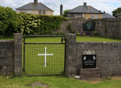 The site of the mass grave for children in Tuam.