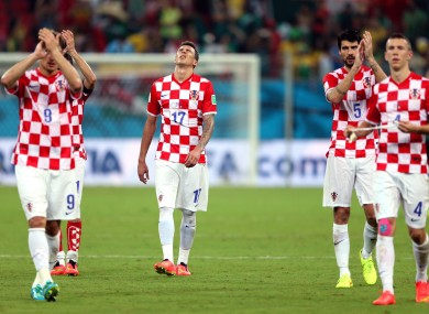 The Croatian players after elimination.