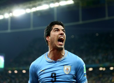 Suarez scored a brace to end England's World Cup hopes.