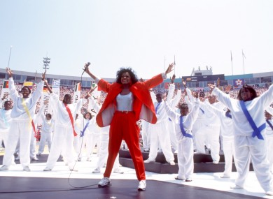 Diana Ross during the opening ceremony of the 1994 World Cup.