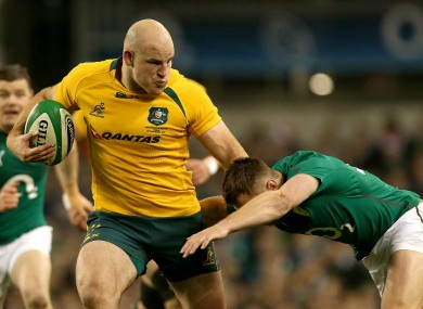 Stephen Moore captains the Wallabies side.