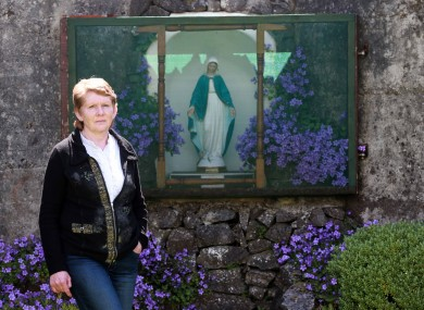 Local Tuam historian Catherine Corless, pictured beside a grotto in the grounds of the Tuam home.