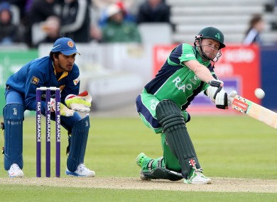William Porterfield in action against Sri Lanka this year.
