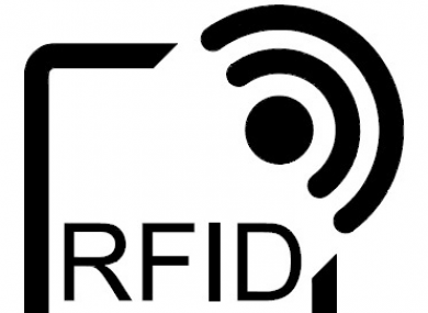 The new RFID logo, which will feature on devices whose manufacturers follow EU privacy regulations.