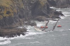 Engine failure on the Astrid meant it couldn't escape Kinsale's rocks