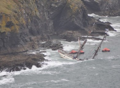 The lifeboats released as the boat ran aground last July.