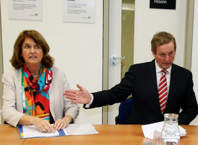 Joan Burton and Enda Kenny (File photo)