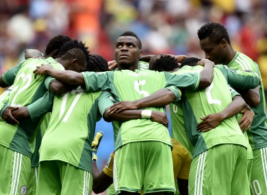 The Nigerian team competed at this summer's World Cup.
