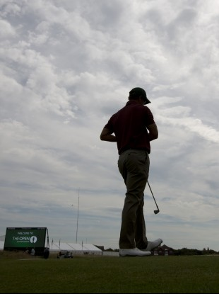 Scott during a practice round at Hoylake on Saturday.