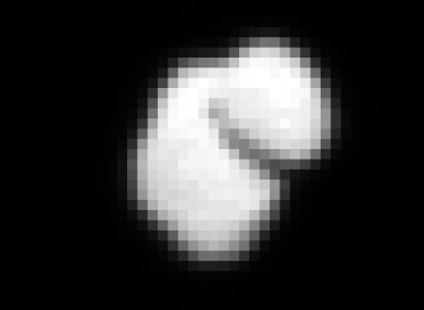An ESA-provided photo showing the very raw image of the comet taken by Rosetta from a distance of approximately 12,000km.