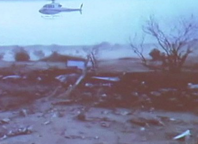 A still from a video of the remote crash site.