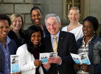 Minister Bruton and members of ICTU, IBEC and the Migrant Rights Action Group at the launch of the new information booklet for domestic workers.