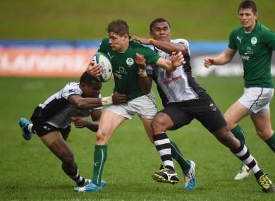Garry Ringrose in action for Ireland against Fiji.