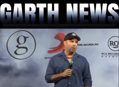 Garth Brooks speaking at today's press conference.