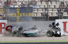VIDEO: Lewis Hamilton suffered a bad crash in Hockenheim today