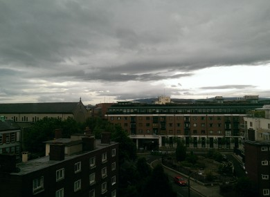Cloudy with a chance of rain fall. The view from TheJournal.ie HQ today.