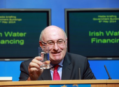 Environment Minister Phil Hogan at the launch of the Government's water charges programme.