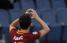 Miralem Pjanic scored from inside his own half against Man United last night