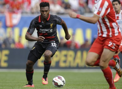 Sturridge in action for Liverpool in pre-season.