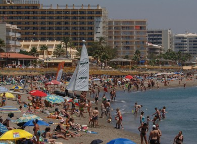 File: Costa del Sol beach near Torremolinos