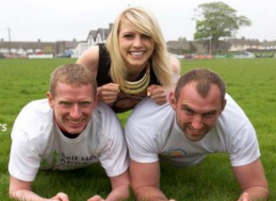 Máire Treasa Ní Dhubhghaill helps Ollie Canning and John Muldoon with their training ahead of the big challenge.
