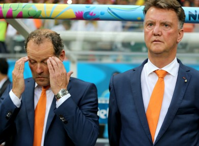Louis van Gaal (right) and was highly praised following the Dutch team's win last night.