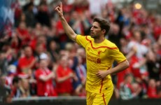 Fabio Borini named in Liverpool team for today's friendly with Preston