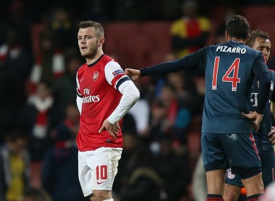 Arsenal's Jack Wilshere after the game.
