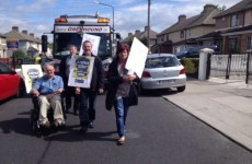 United Left TD Joan Collins protests 'scabs' working Greyhound trucks