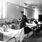 Sir Alfred Pierce Gould KCVO, in charge of the surgical division at the 3rd London General Hospital at Wandsworth on 1 January 1916.<span class=