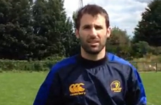 Bryan Cullen nailed the crossbar challenge at Leinster Rugby training today