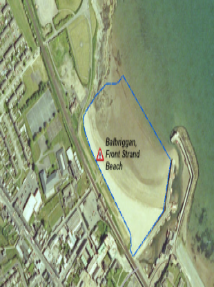 Balbriggan beach, one of the twelve affected by the notice.