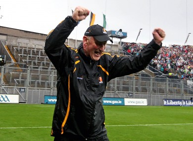 Brian Cody celebrates at the final whistle