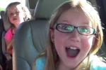 Little girl FREAKS OUT when she learns she's going to her favourite restaurant