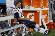 Tom Brady threw a pick six against the Eagles last night