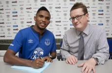 Eto'o signs for Toffees, in line to make debut against Chelsea