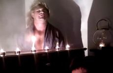 Here's Cian Healy dressed flamboyantly and miming a classic power ballad