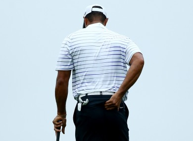 American Tiger Woods is a doubt for the Ryder cup, he says.