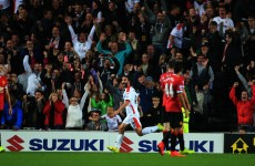 Grigg tears Man United apart again with incredible chested finish