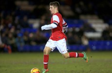 VIDEO: Former Irish underage international scores brilliant free-kick for Arsenal