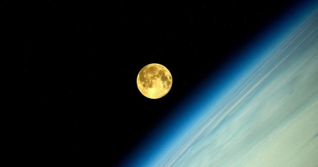 You think the supermoon looks cool out your window? Check it out from ISS