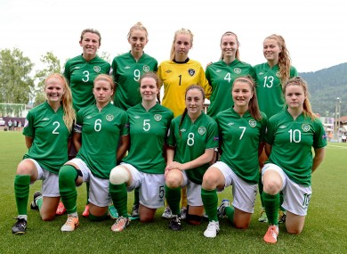 The Republic of Ireland women's under-19s team reached the semi-finals of the European Championships last month.