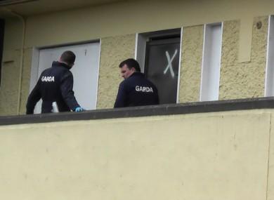 Gardaí involved in this morning's operation in Dublin.