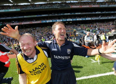 Jack O'Connor celebrates Kerry's victory with Alan O'Sullivan.