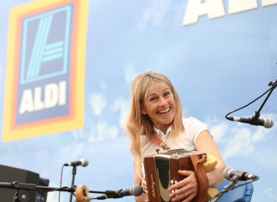 Inside Aldi's marquee at this year's National Ploughing Championships.