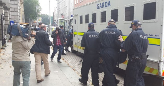 Woman arrested as Dáil protests turn nasty