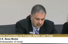 """I'm sorry to disappoint you."" – Israeli ambassador tells David Norris he's going nowhere"