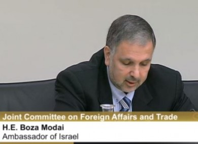 Modai made his intention to say on clear to deputies.